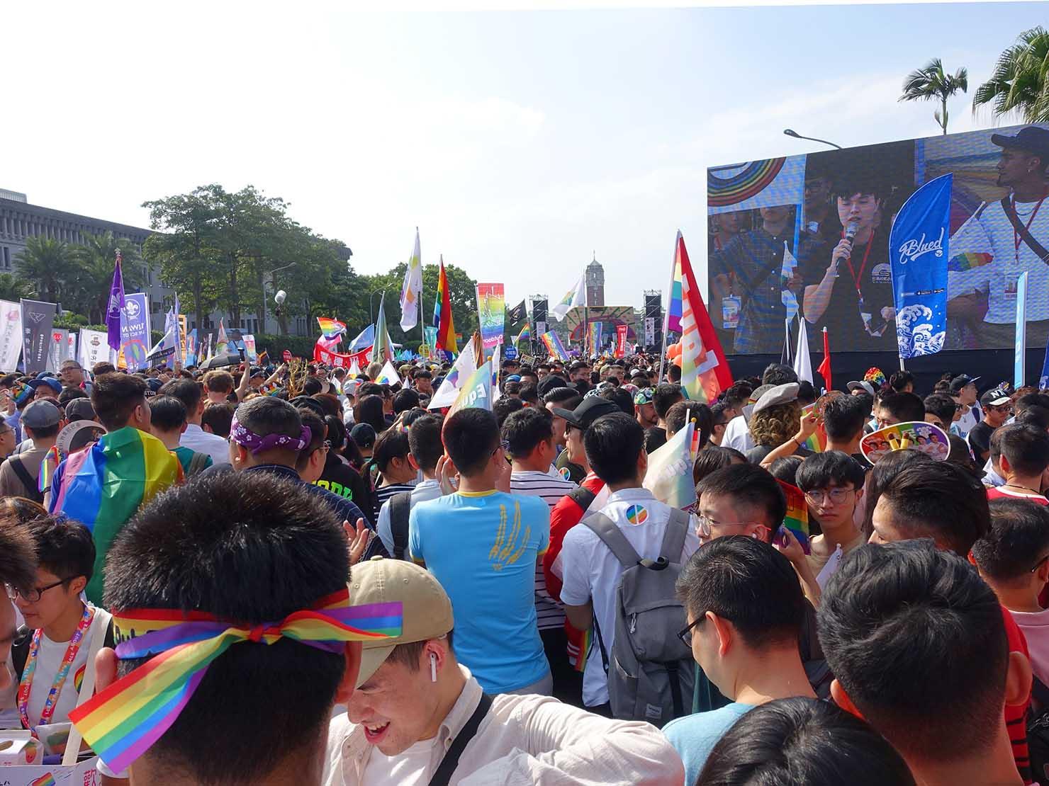 台灣同志遊行(台湾LGBTプライド)2018の会場となった總統府前・凱達格蘭大道