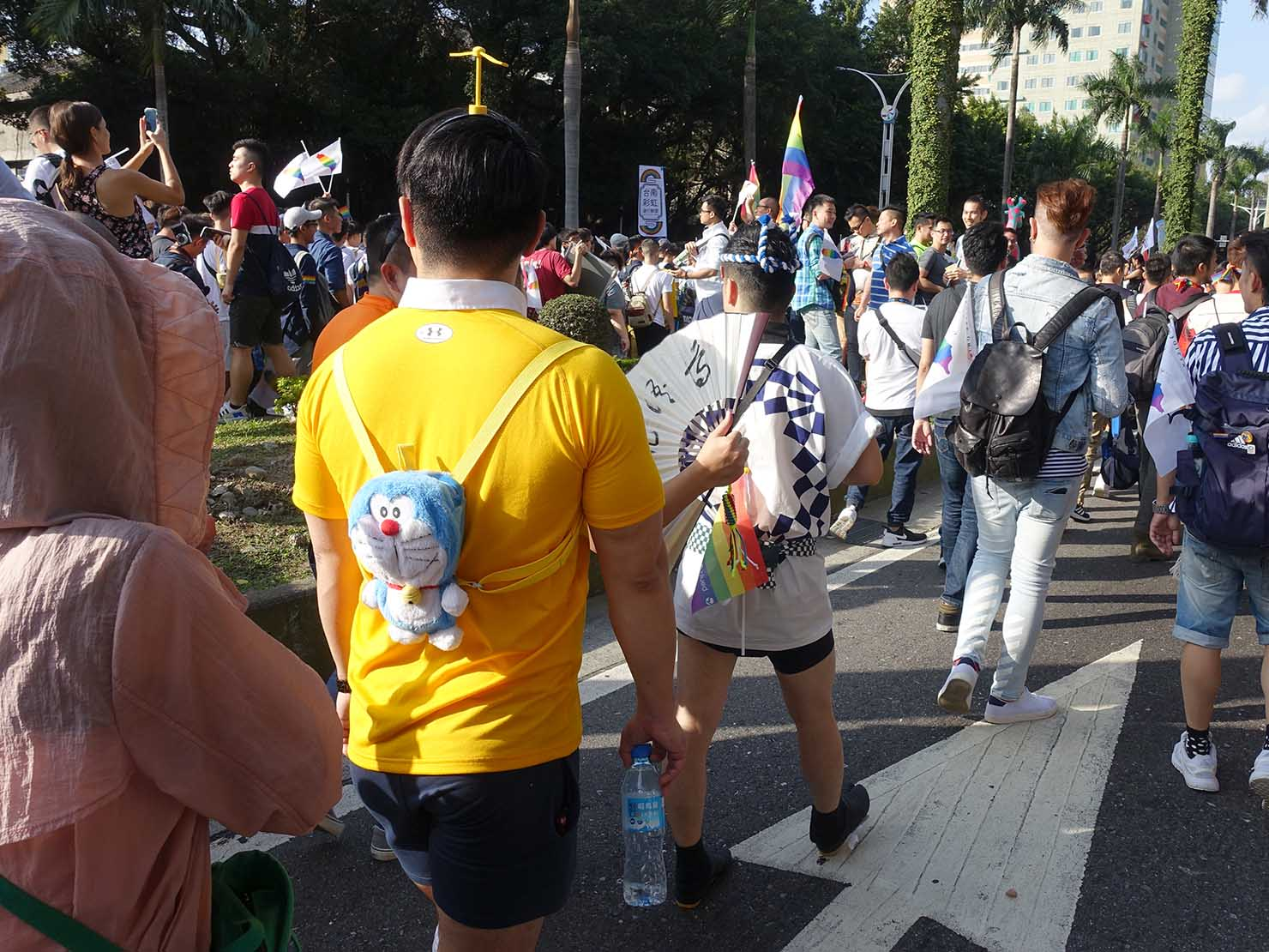 台灣同志遊行(台湾LGBTプライド)2018パレードをコスプレで歩く参加者