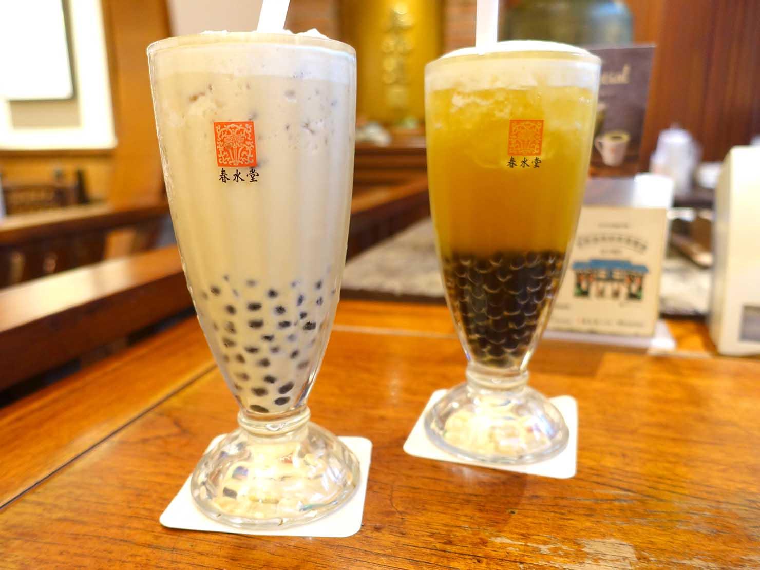 台中観光のおすすめスポット「春水堂創始店」の珍珠奶茶(タピオカミルクティー)