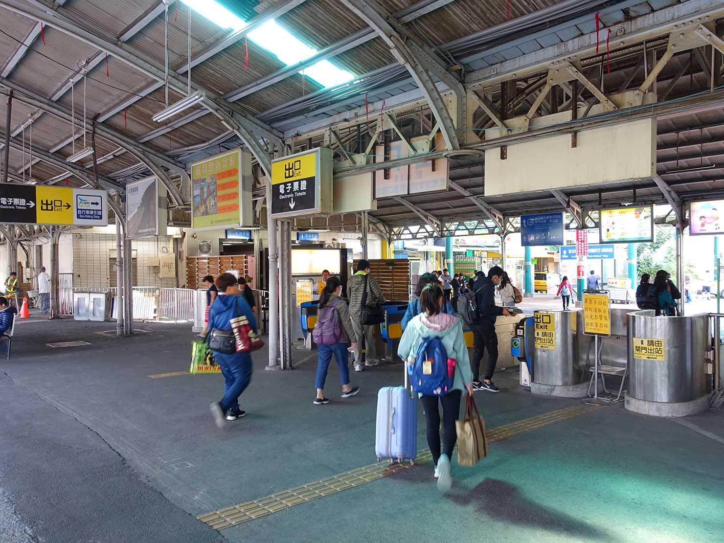 台鐵(台湾鉄道)台南駅の改札