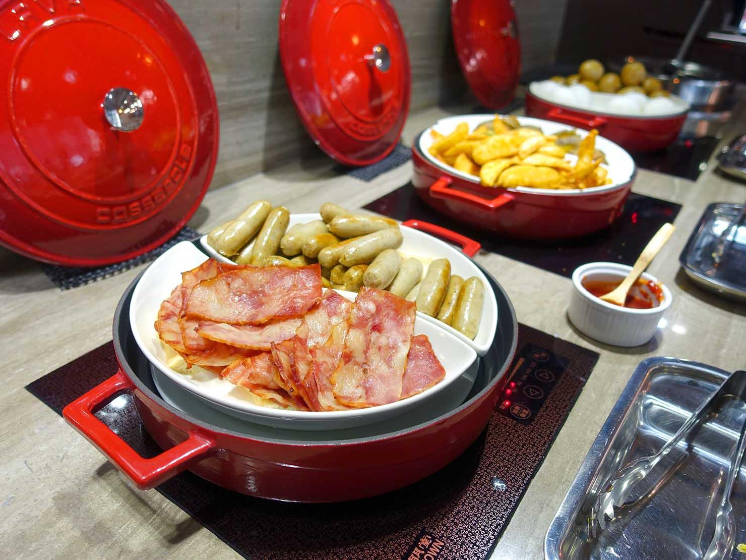 台南市内観光におすすめのホテル「長悅旅棧」朝食ビュッフェの料理