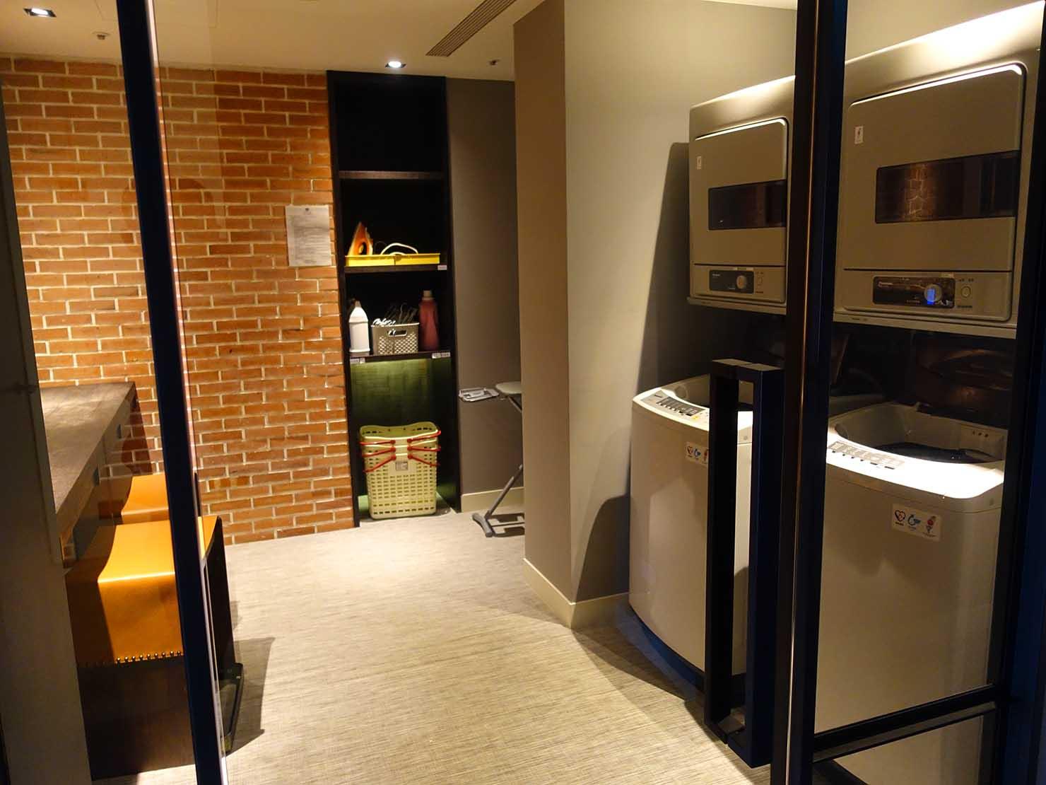 高雄市内観光におすすめのホテル「GREET INN 喜迎旅店」の豪華雙人房(デラックスダブル)15Fのランドリールーム