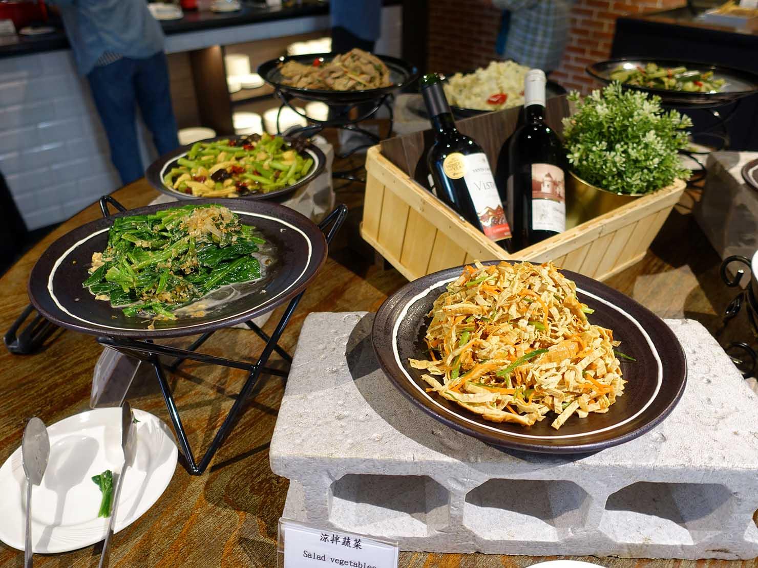 高雄市内観光におすすめのホテル「GREET INN 喜迎旅店」朝食ビュッフェの料理