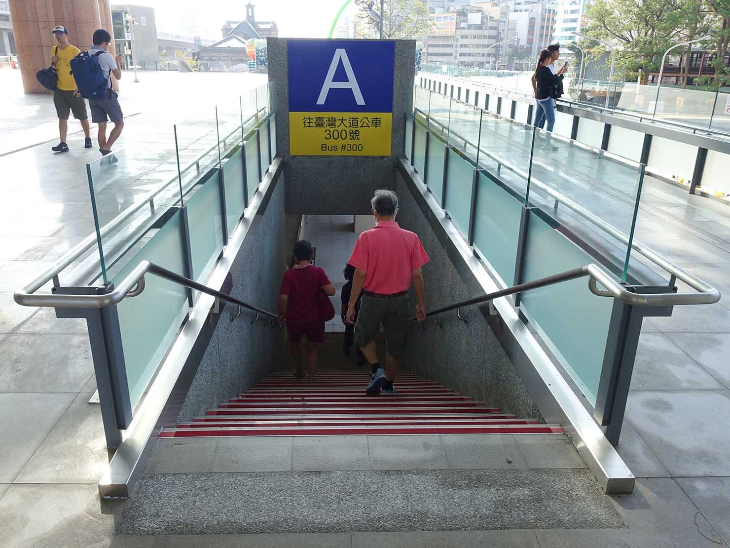 台鐵台中駅のバス乗り場