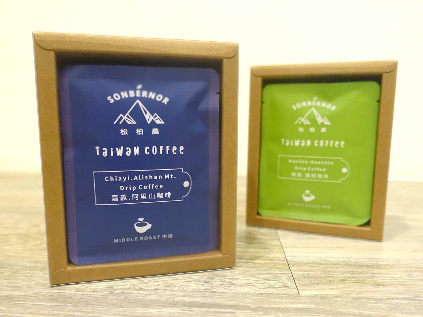 台北おみやげにおすすめのコーヒーブランド・SONBERNORの台湾コーヒー