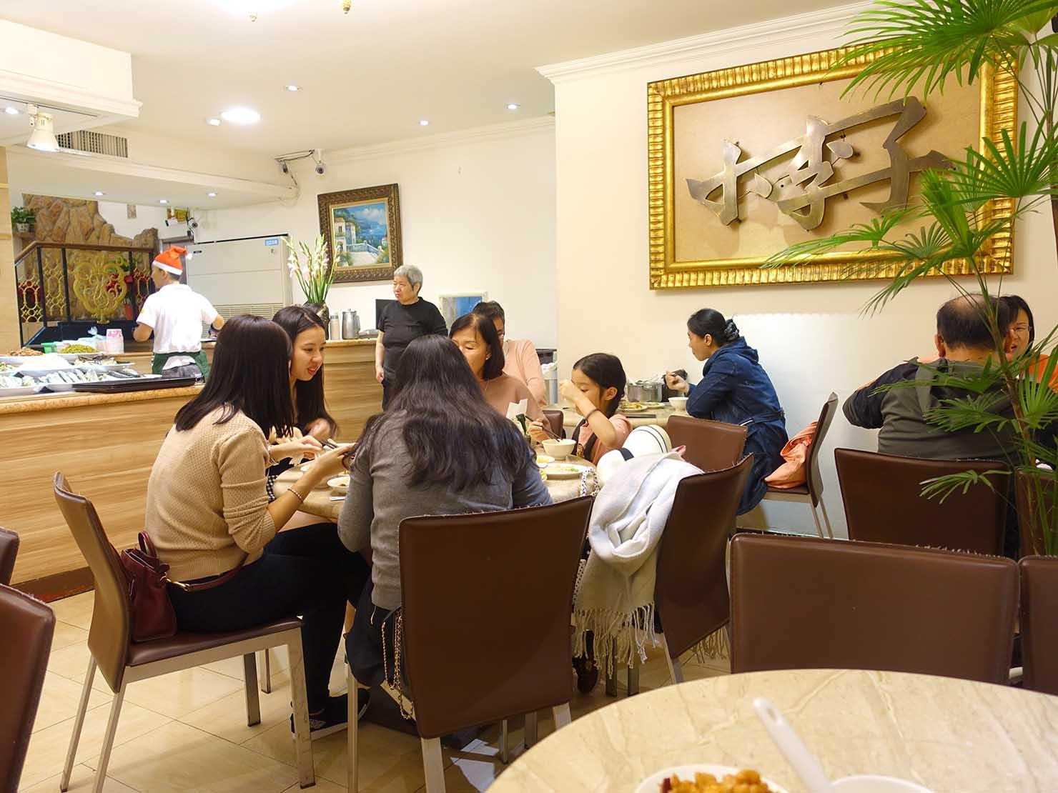 台北・清粥街(お粥街)にある「小李子清粥小菜」の店内