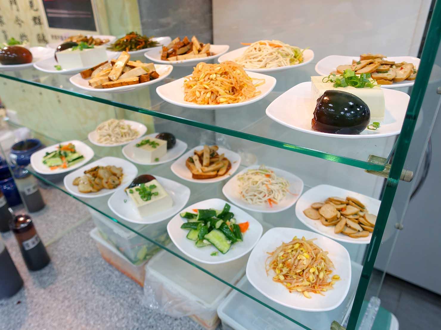 台北・忠孝敦化駅(東區)のおすすめグルメ店「頂好紫琳蒸餃館」の小菜
