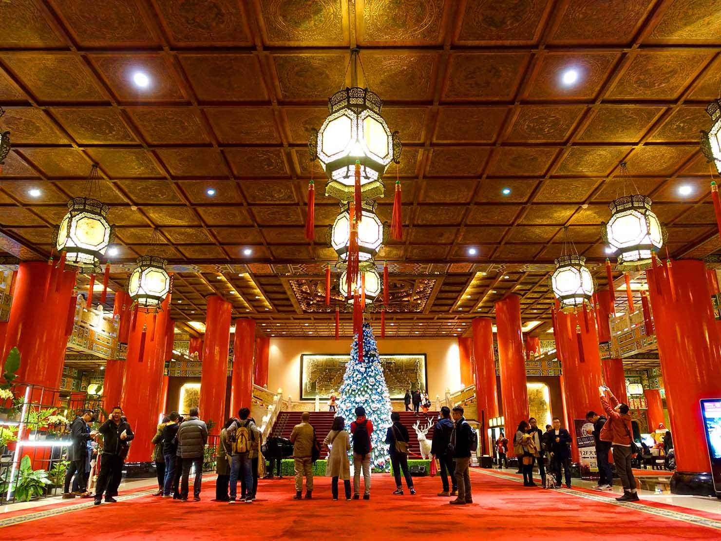 台北・圓山大飯店のエントランスホール