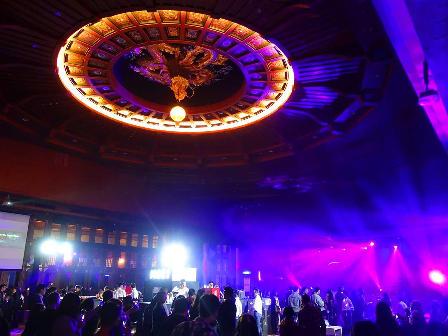 台北・圓山大飯店のカウントダウンパーティー「Bling Bling跨年派對」会場