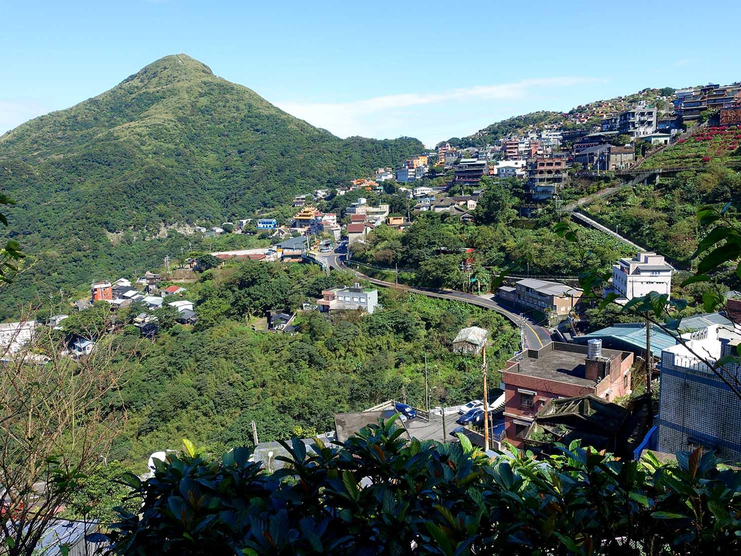 台北・九份の頌德公園から眺める風景