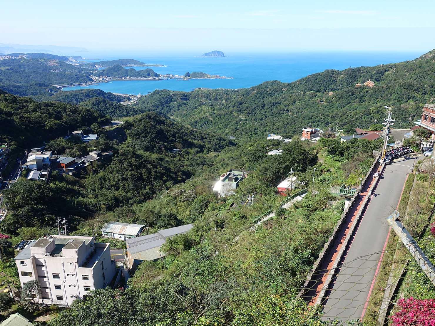 台北・九份の海の見えるレストランから眺める景色