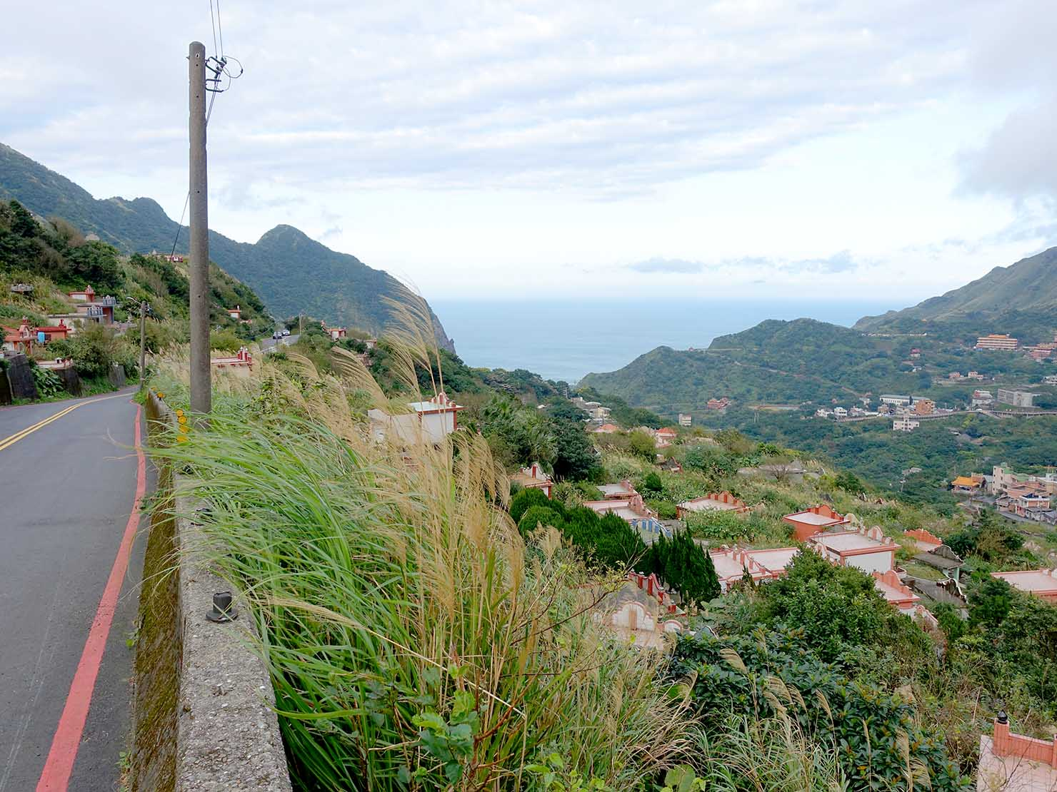台北・九份の瑞雙公路から眺める金瓜石