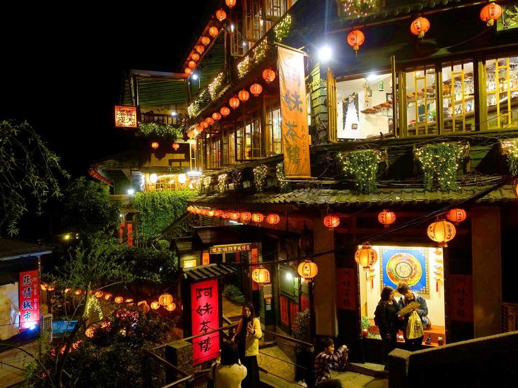 台北・九份阿妹茶樓の夜景