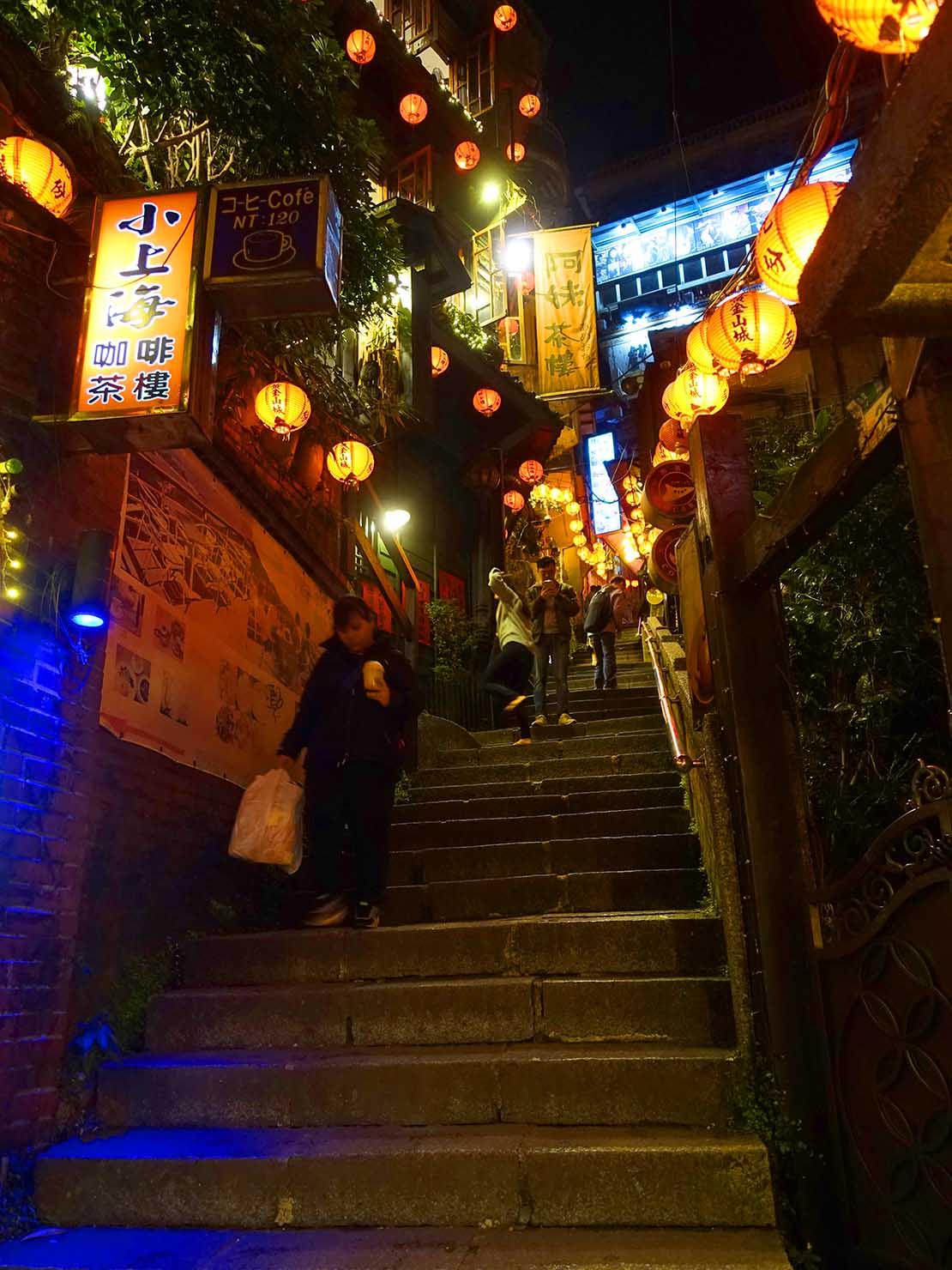 台北・九份豎崎路の夜景