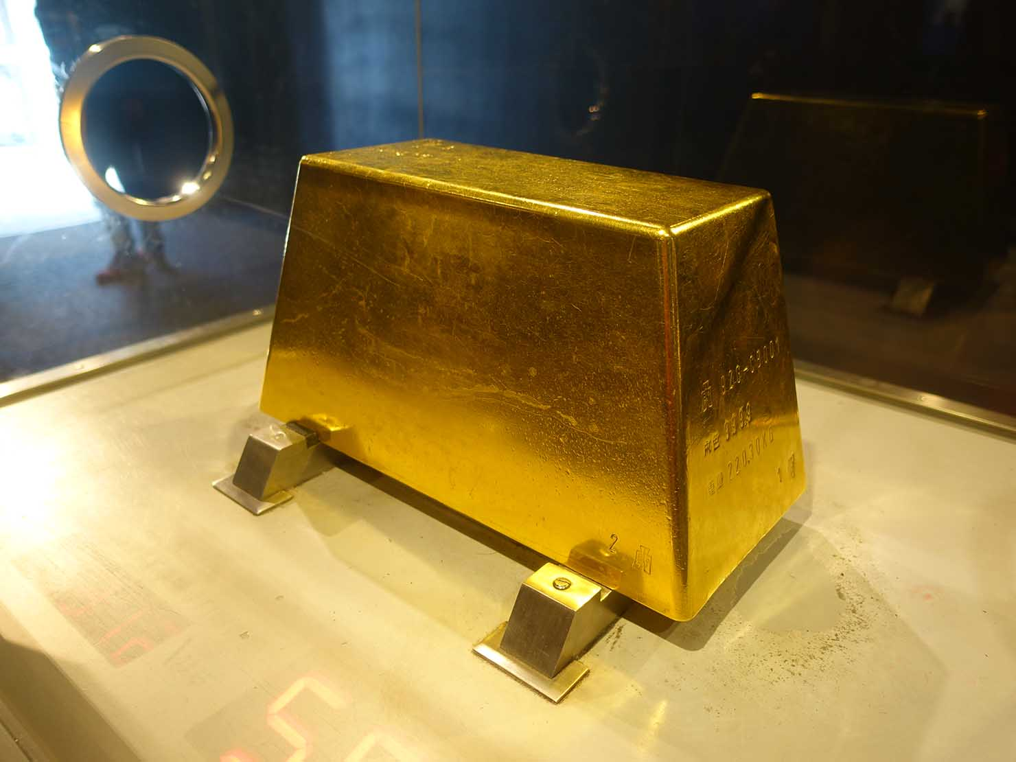 台北・金瓜石黃金博物館の大金塊