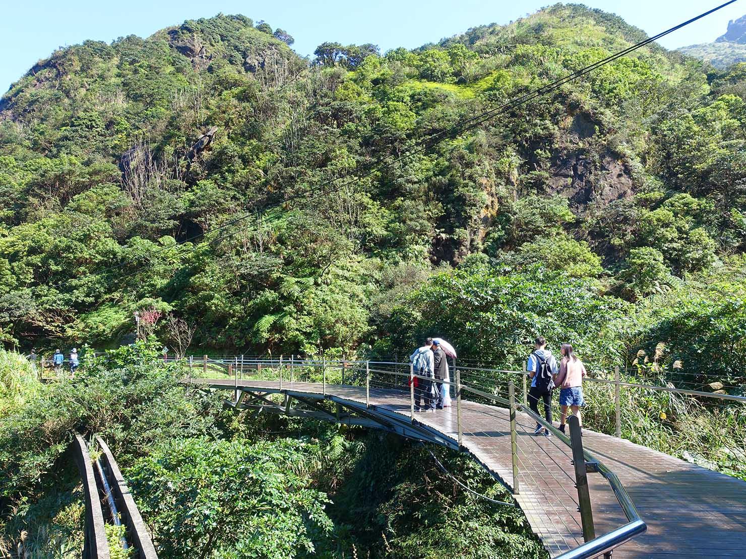 台北・金瓜石黃金博物館横にかかる橋