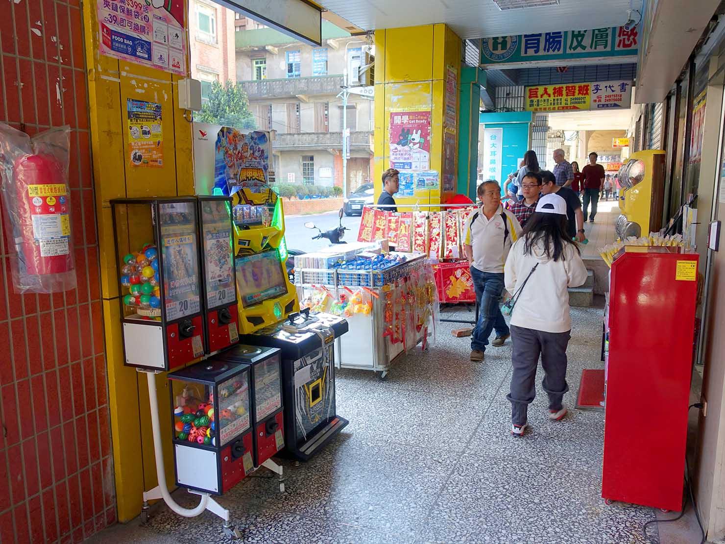台北・瑞芳市街の騎樓