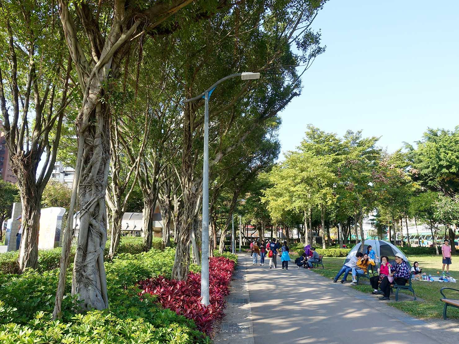 台北・大安森林公園の休日