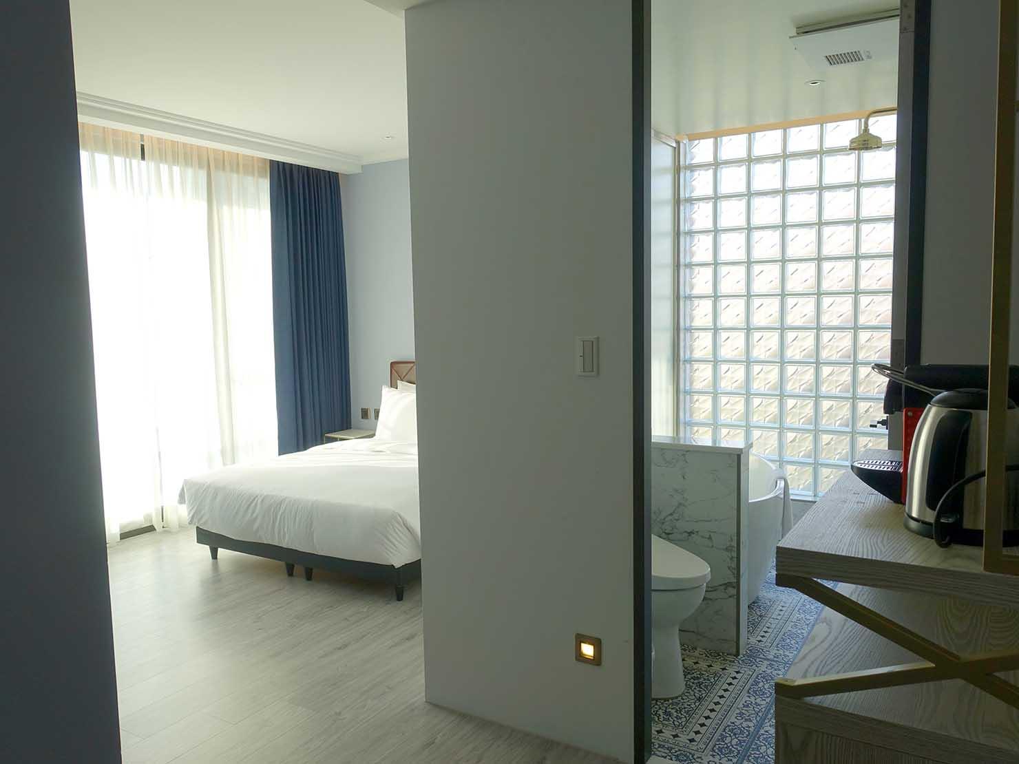 台北・大安の最高におしゃれなブティックホテル「chez nous 司旅」經典房(クラシックルーム)の間取り