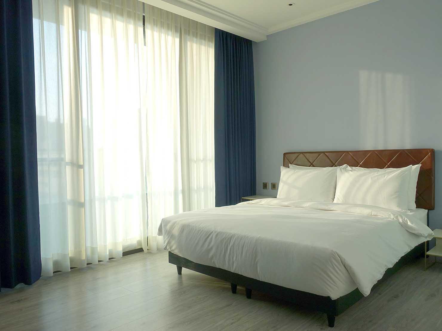 台北・大安の最高におしゃれなブティックホテル「chez nous 司旅」經典房(クラシックルーム)のベッドルーム