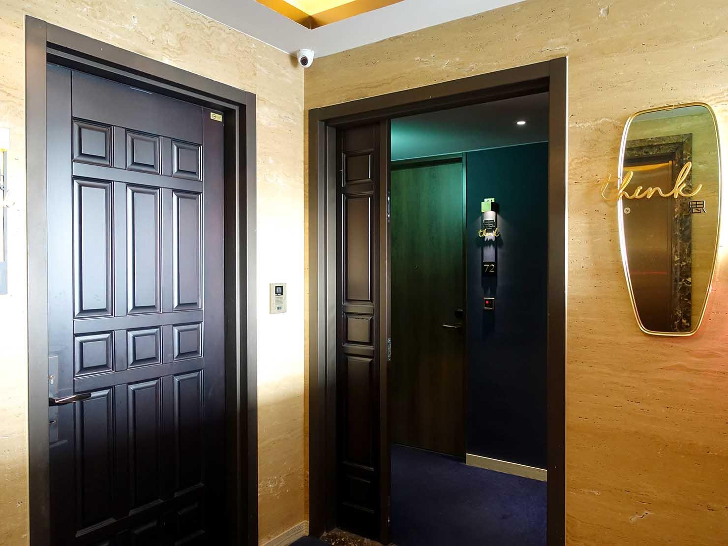 台北・大安の最高におしゃれなブティックホテル「chez nous 司旅」のエレベーターホール