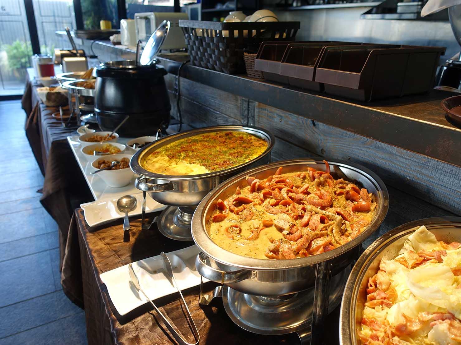 台北・大安の最高におしゃれなブティックホテル「chez nous 司旅」朝食の洋風料理