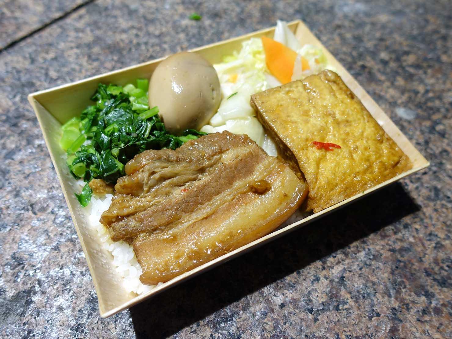台湾版鉄道弁当・台鐵便當の「古早味焢肉飯」