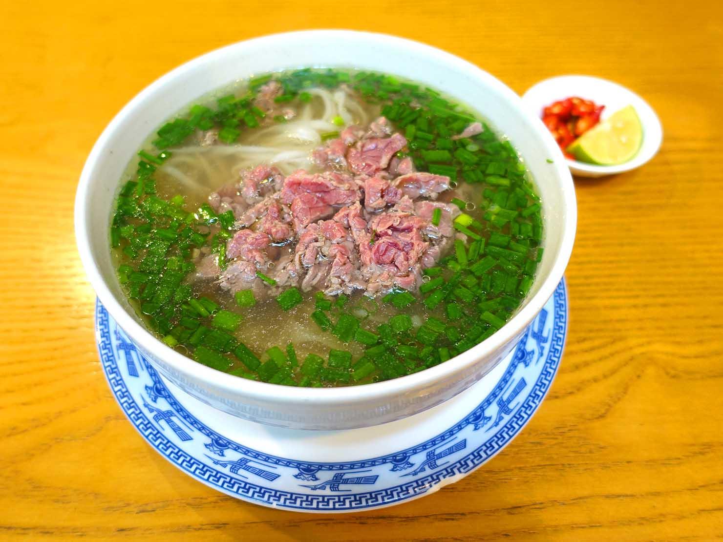 ベトナム・ハノイで食べた牛肉フォー「フォー・ボー」