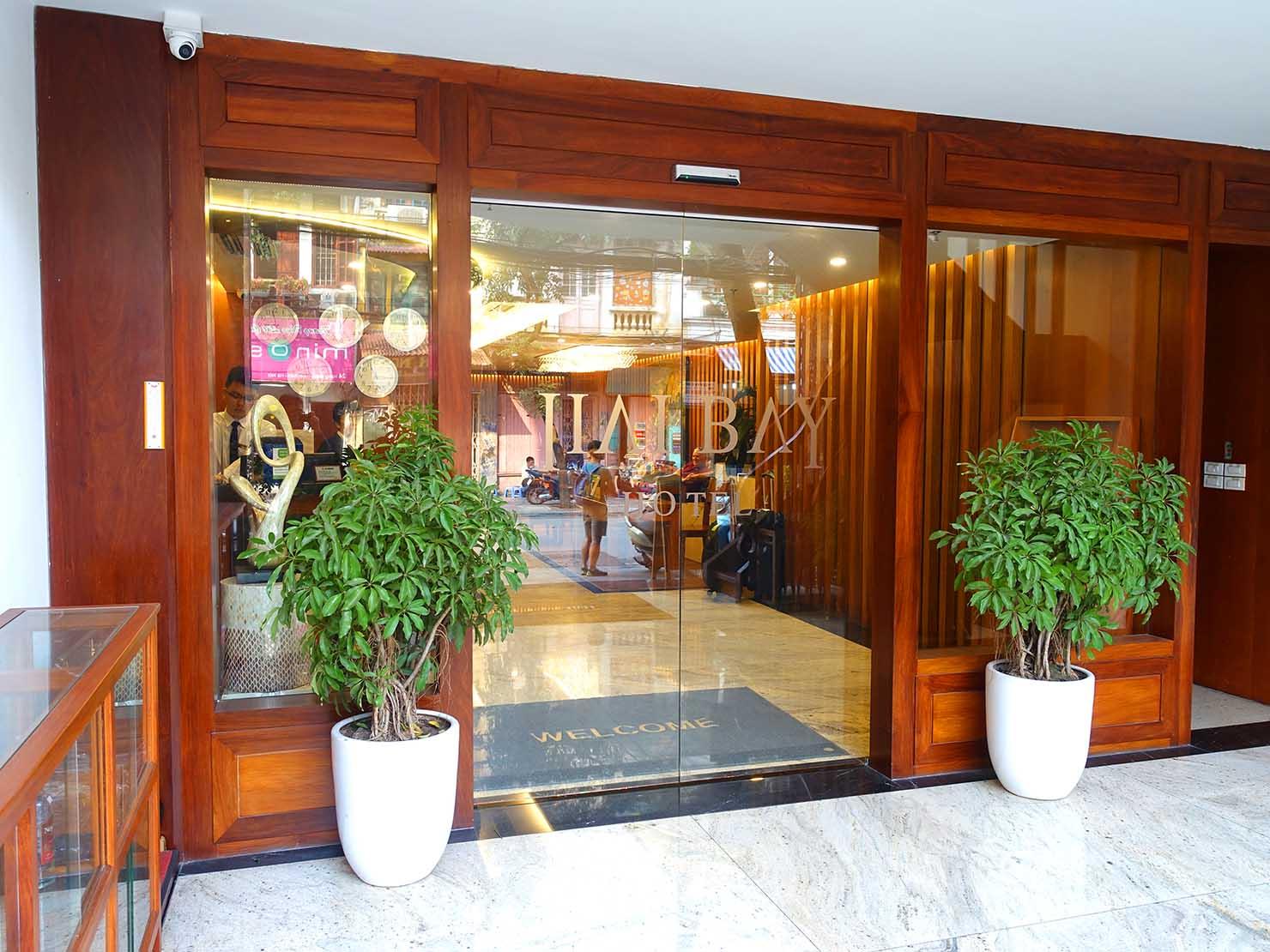 ハノイ旧市街ど真ん中の観光に便利なおすすめホテル「Hai Bay Hotel」のエントランス