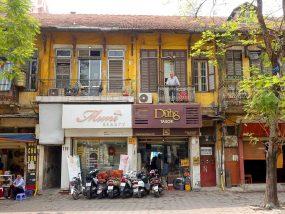 ベトナム・ハノイ旧市街の街並み