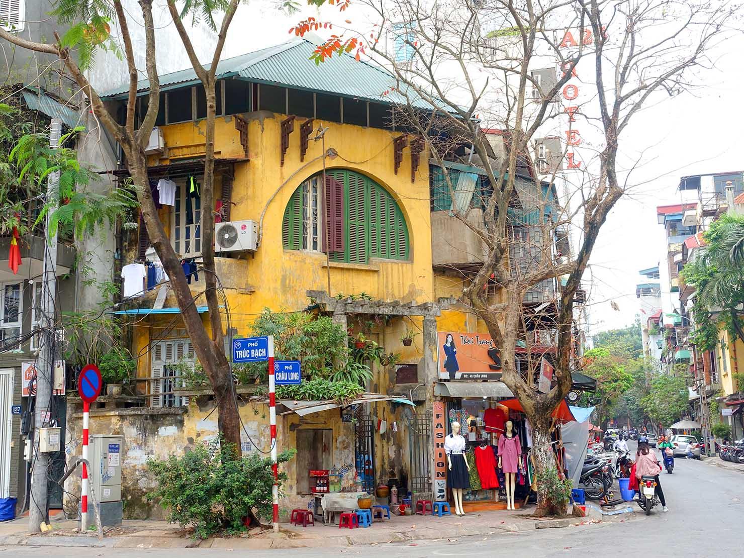 ベトナム・ハノイにあるタイ湖エリア周辺の街並み