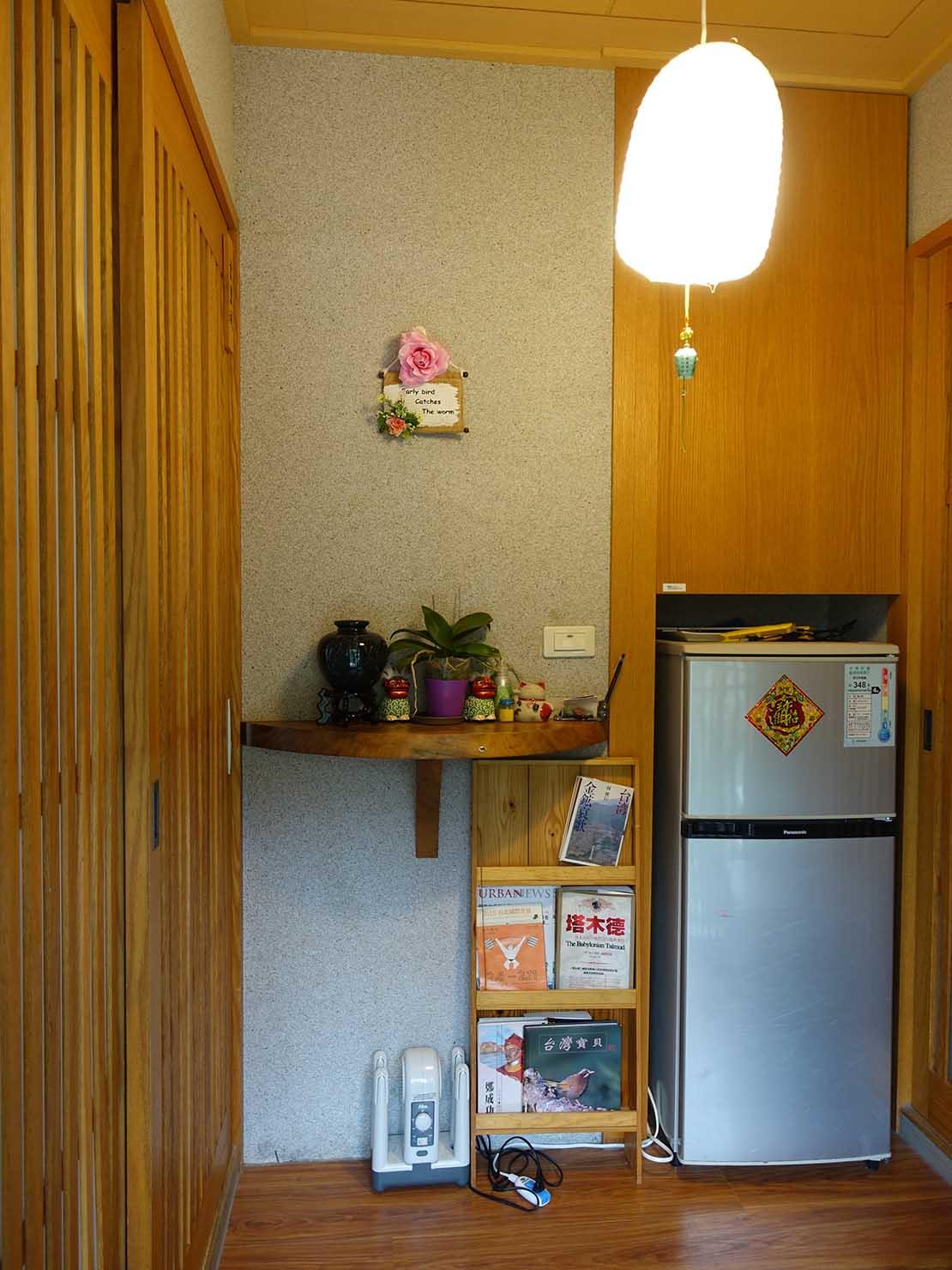 台北・九份のおすすめゲストハウス「九份小町」海景套房(オーシャンビュー・ダブルルーム)の玄関