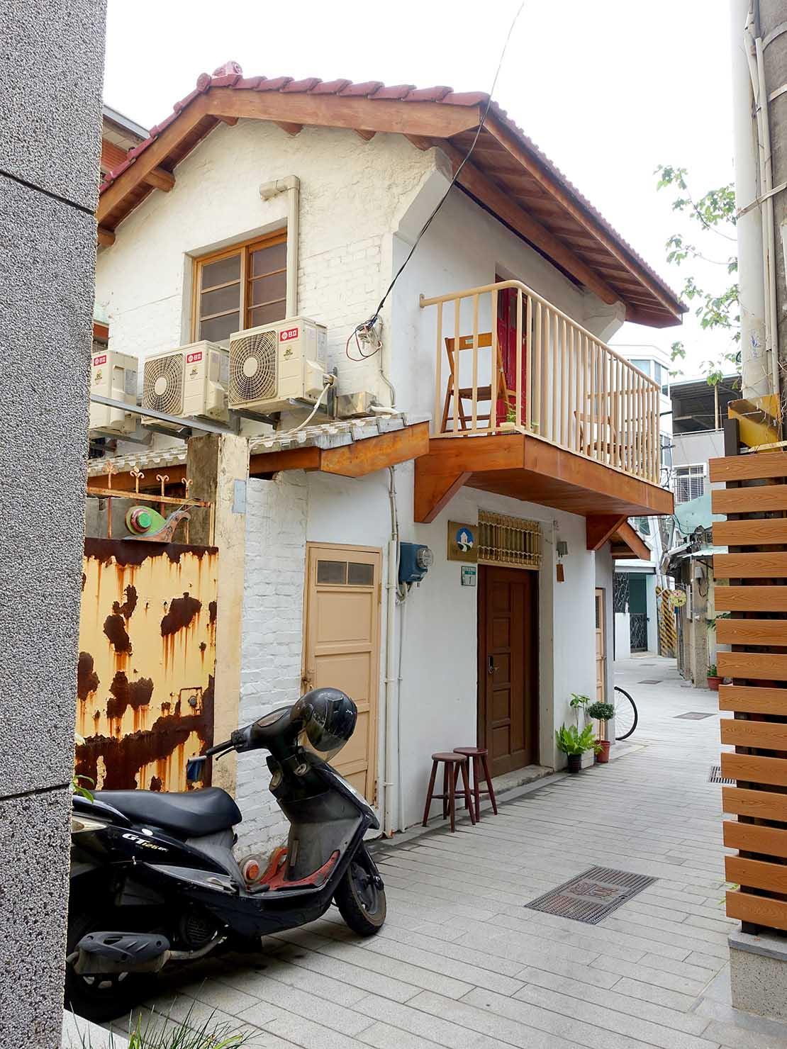 台南のおすすめ古民家ゲストハウス「永福97.1」永福路側からの外観