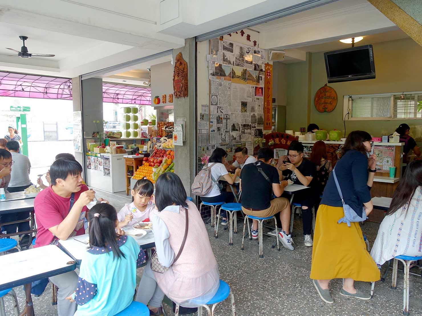 台南・孔廟エリアのおすすめグルメ店「莉莉水果店」の店内