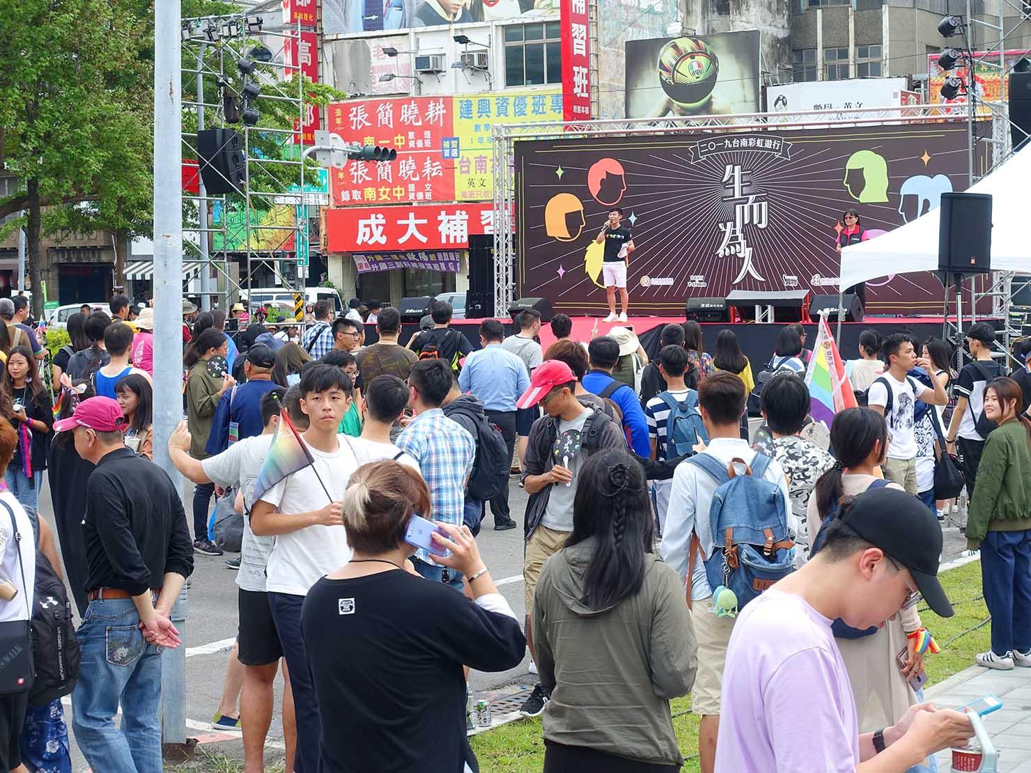 台南彩虹遊行(台南レインボーパレード)2019の会場ステージ前