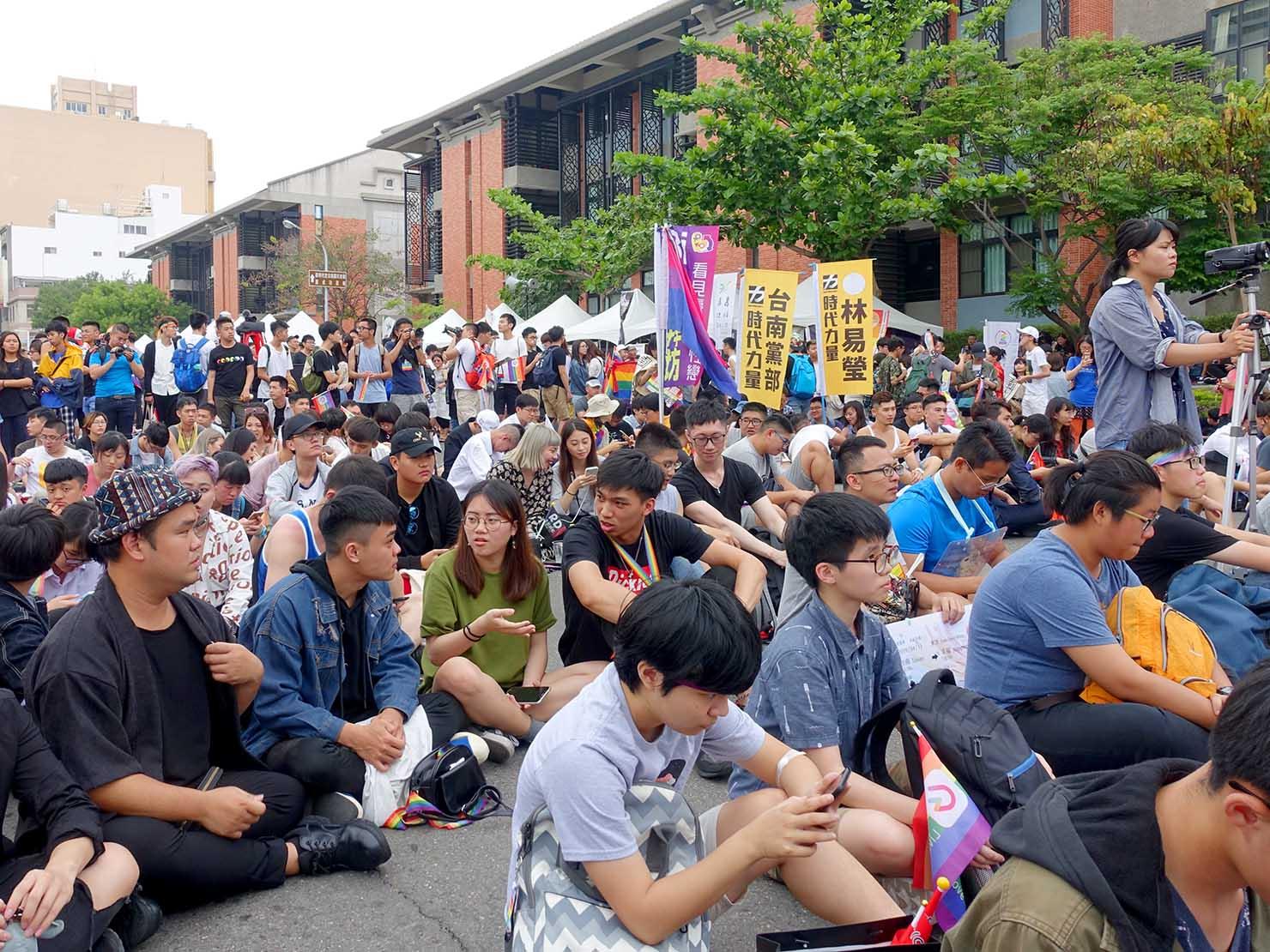 台南彩虹遊行(台南レインボーパレード)2019パレード後の会場ステージ前
