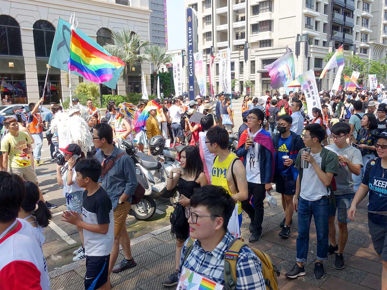 苗栗愛轉來平權遊行(苗栗LGBTプライド)2019のパレード出発前
