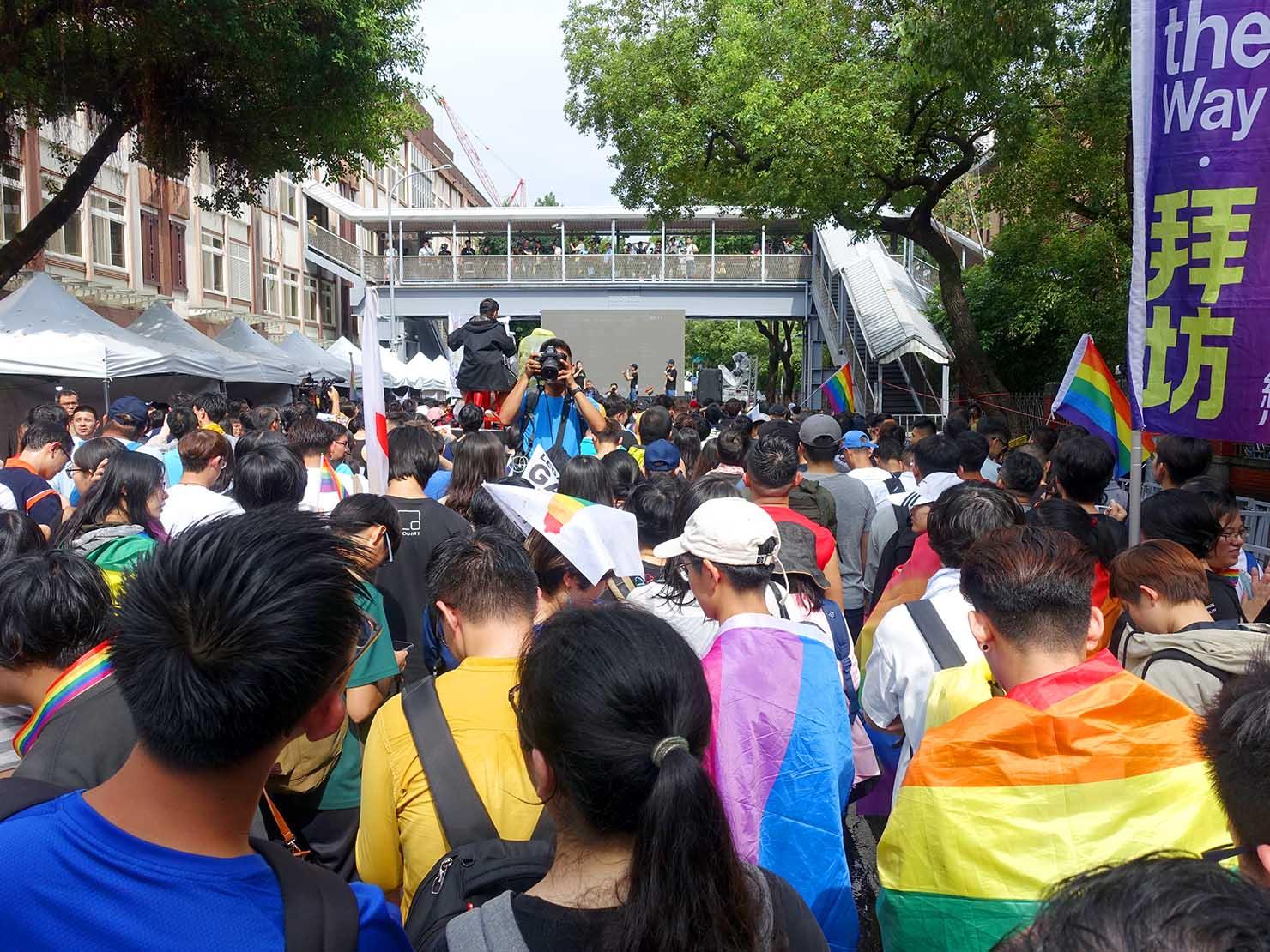 2019年5月17日、台湾同性婚実現の日の立法院前