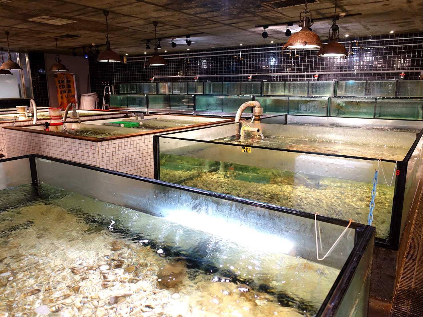 高雄のおすすめ観光スポット「獅甲」台鋁MLDの海鮮売り場