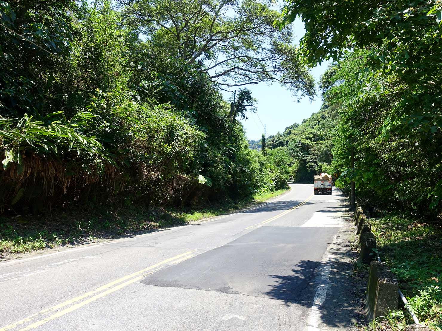 台北一周自転車道「福德坑環保復育公園」に伸びる坂道