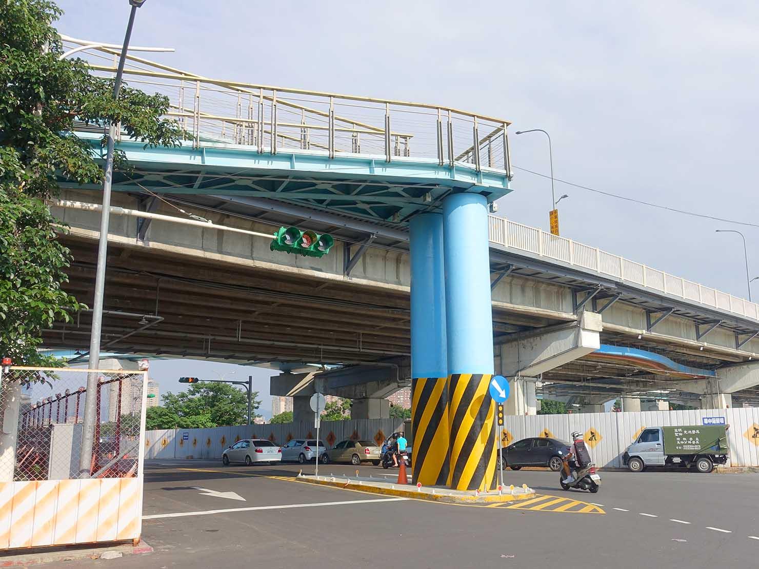 台北一周ゴール地点の華中橋