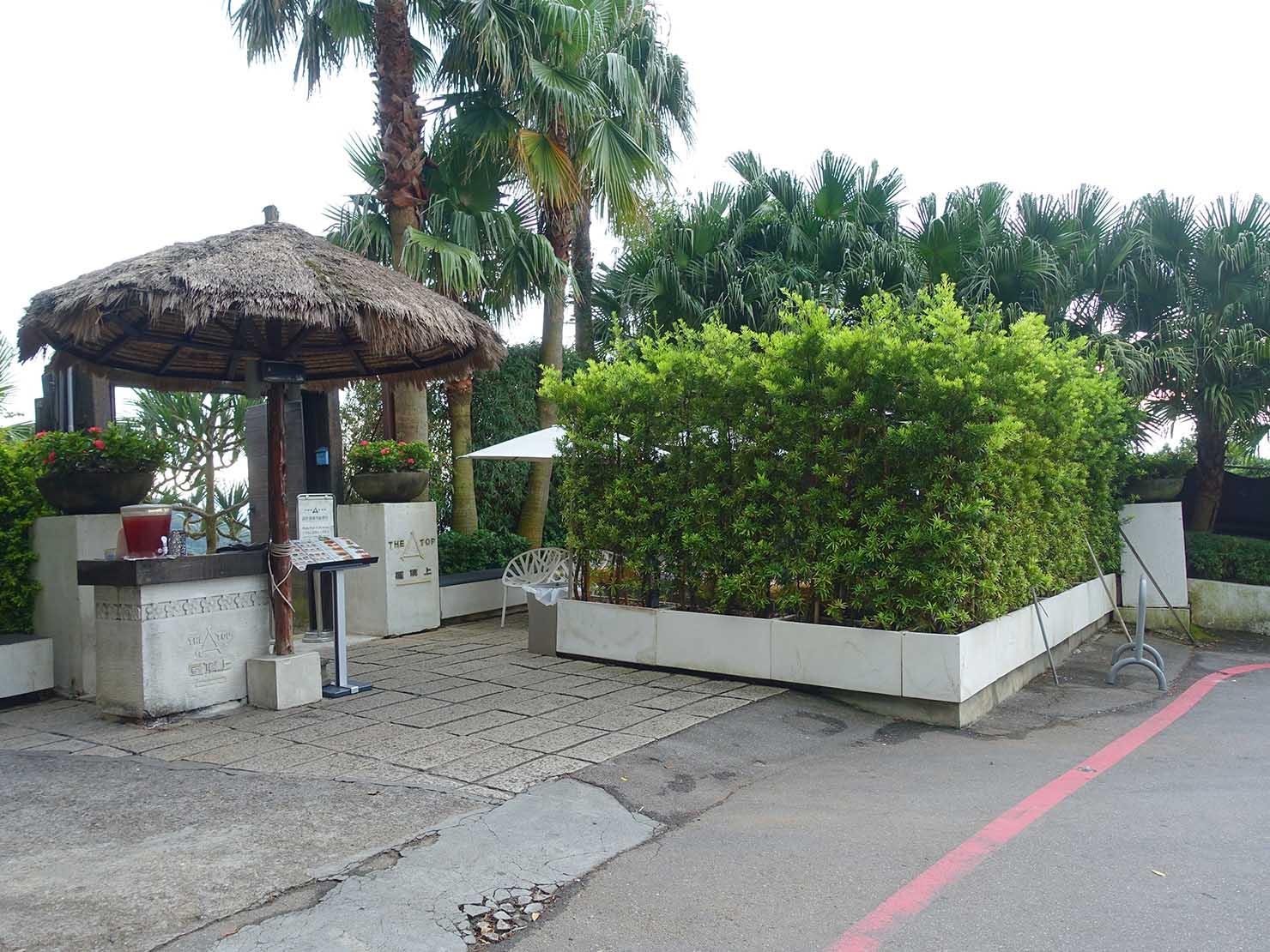 台北・陽明山のレストラン「草山夜未眠」へのアクセス(光華路61巷4弄の屋頂上前)