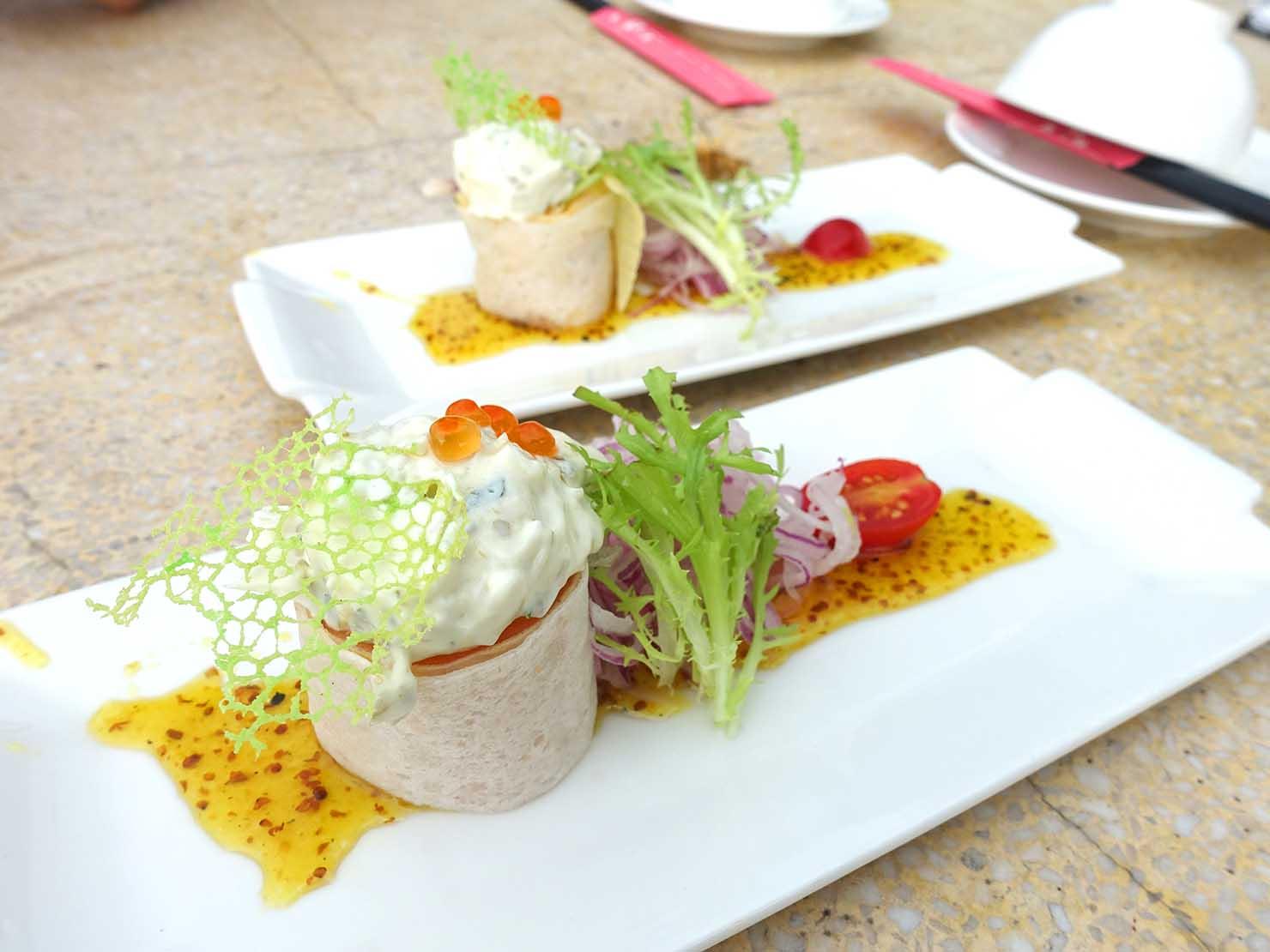 台北・陽明山のレストラン「草山夜未眠」の前菜