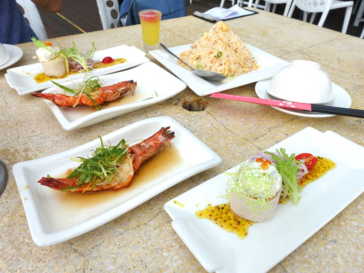 台北・陽明山のレストラン「草山夜未眠」の2人用セットメニューのお料理