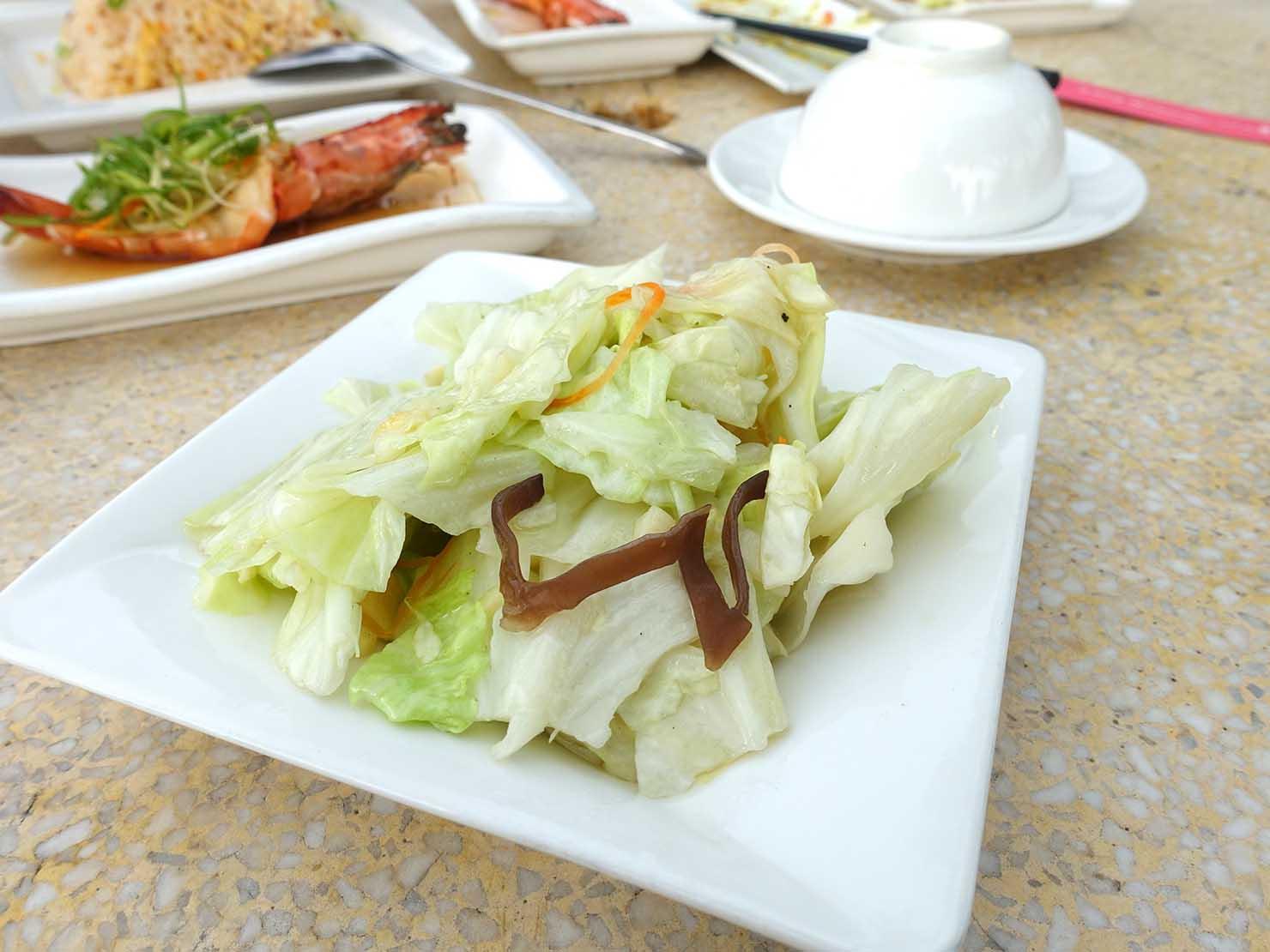 台北・陽明山のレストラン「草山夜未眠」の冷山高麗菜