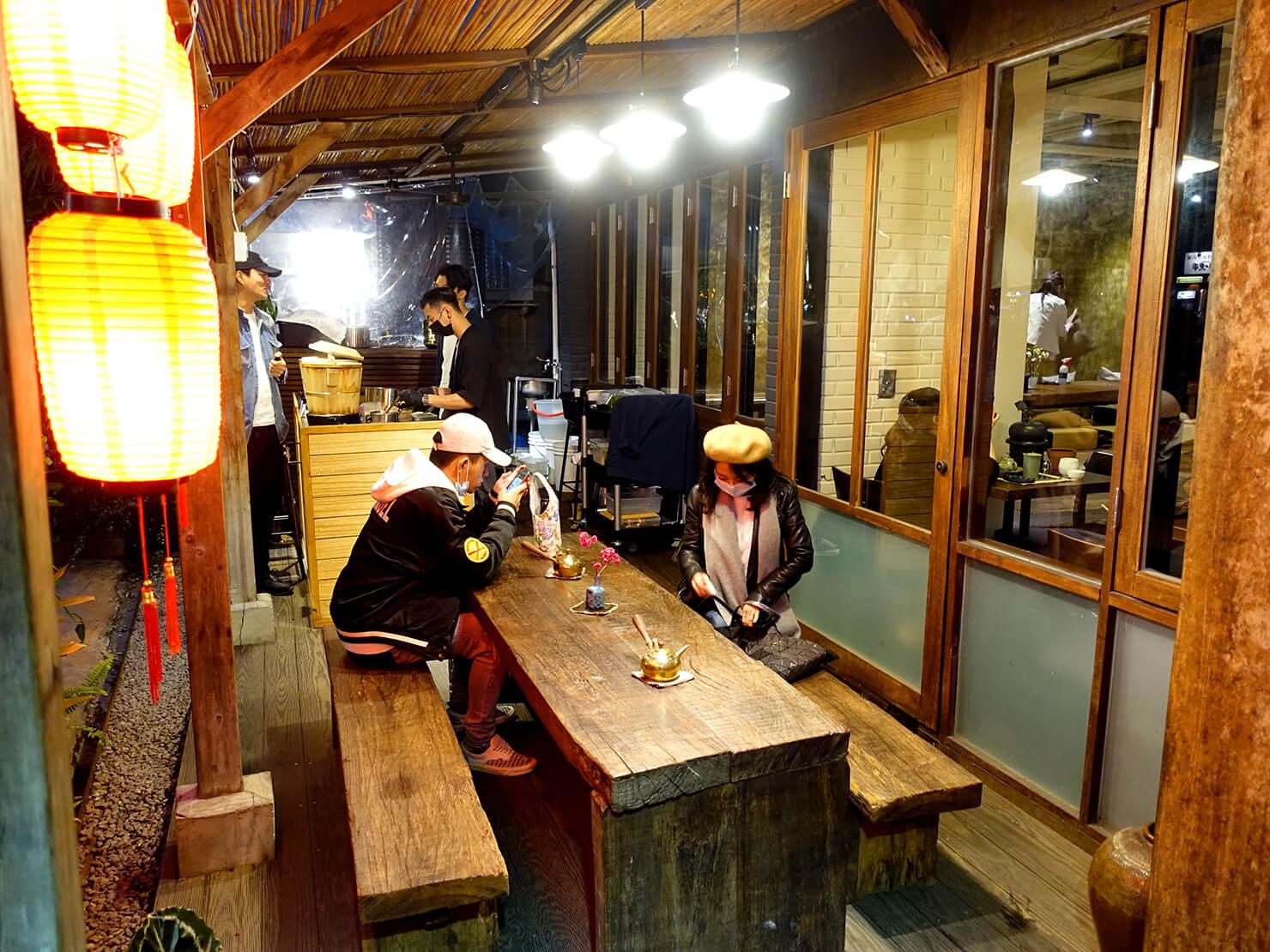 台北・永康街の豆花がいただけるお店「白水豆花」の店内