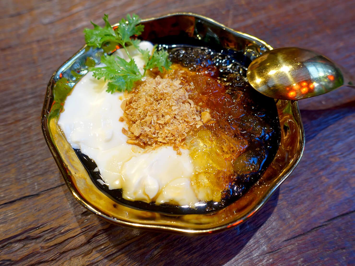 台北・永康街の豆花がいただけるお店「白水豆花」の麥芽糖花生桃膠豆花