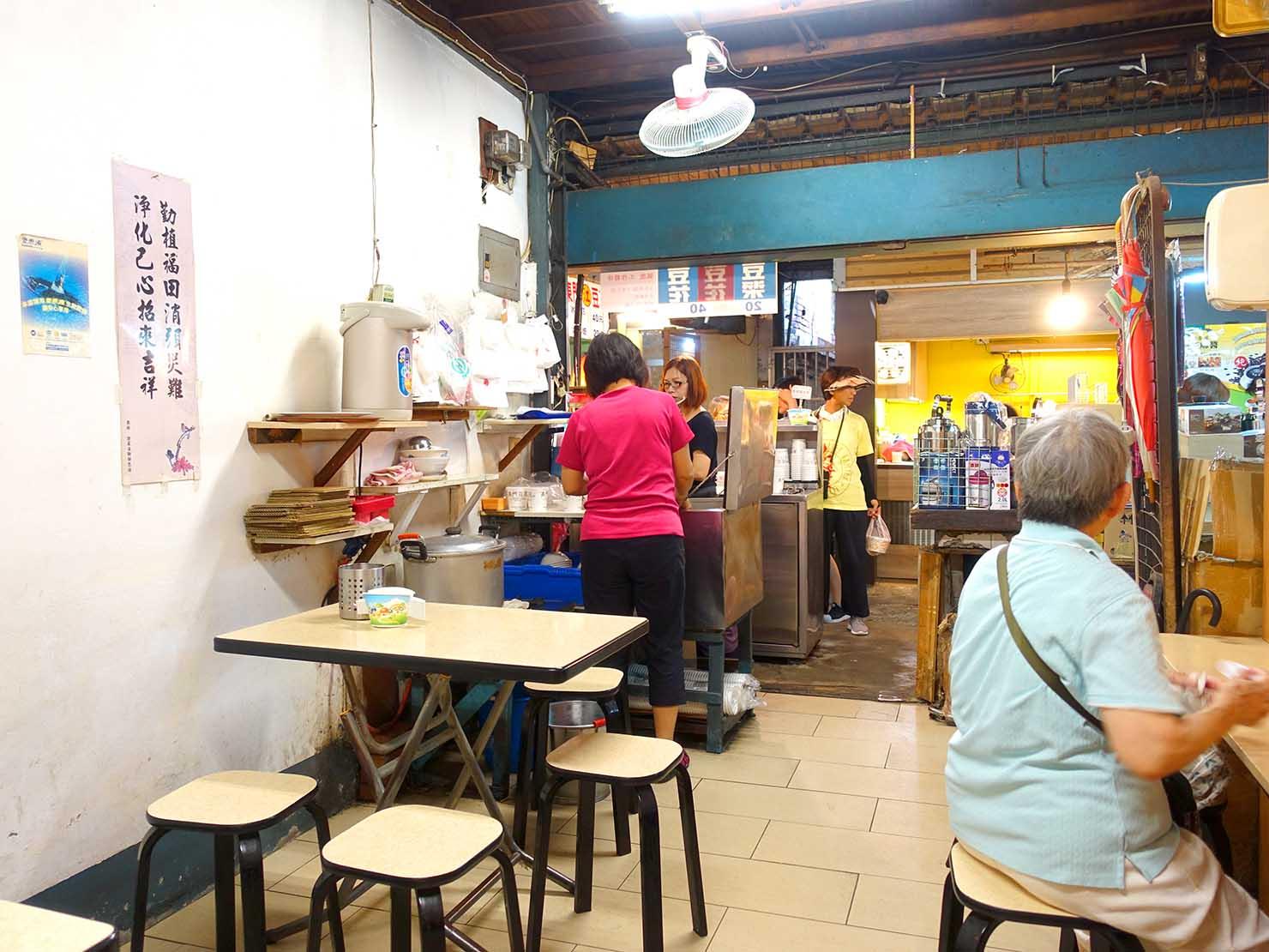 台北・永康街の豆花がいただけるお店「江記東門豆花」の店内