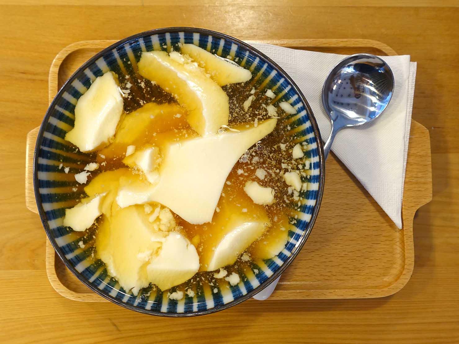台北・永康街の豆花がいただけるお店「其實豆製所」の檸檬豆花