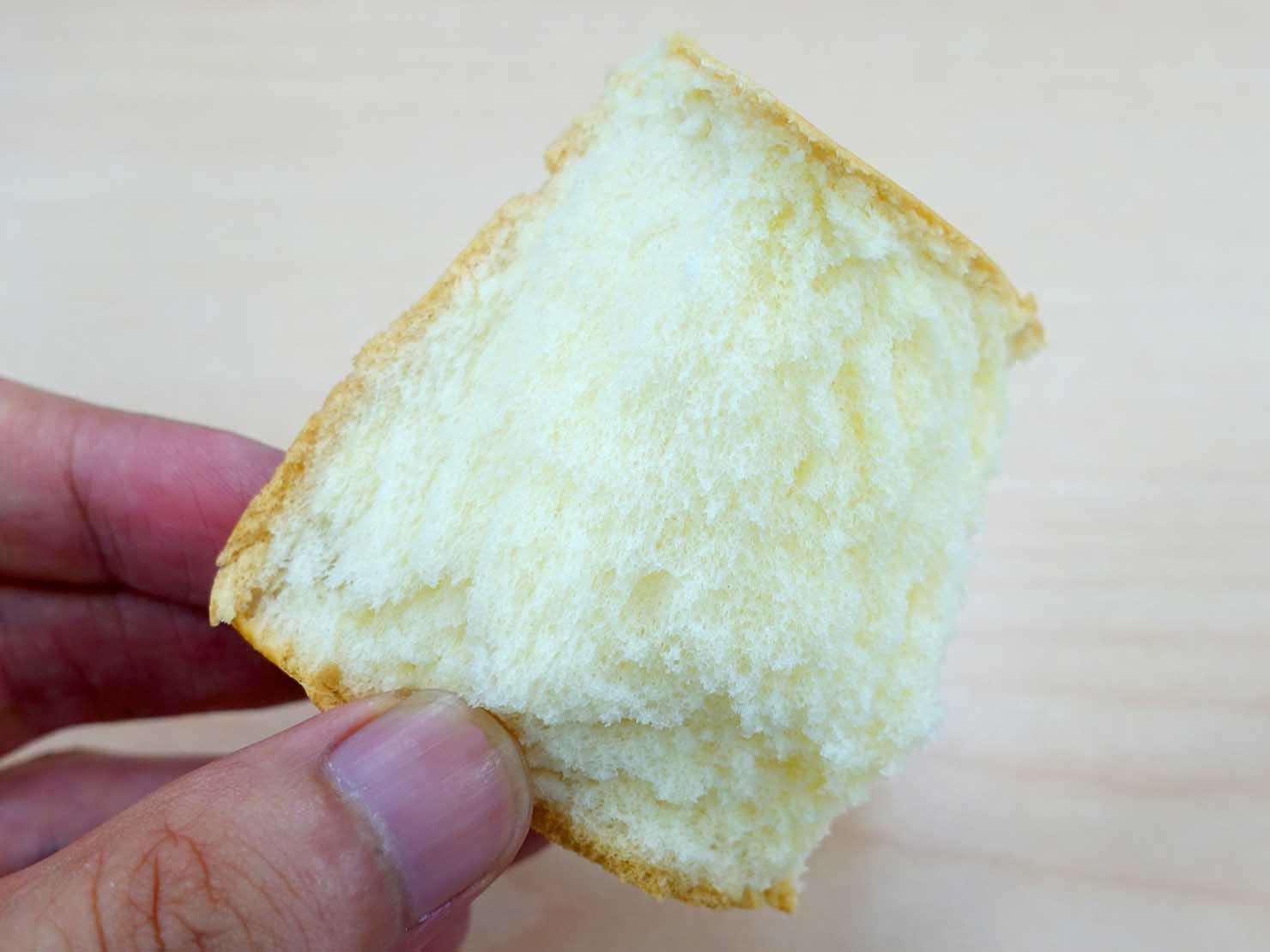台湾のコンビニでよく食べているおやつ「金立方」クローズアップ